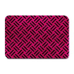 Woven2 Black Marble & Pink Leather Plate Mats by trendistuff