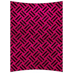 Woven2 Black Marble & Pink Leather Back Support Cushion by trendistuff