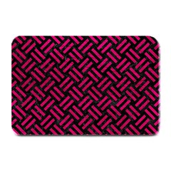 Woven2 Black Marble & Pink Leather (r) Plate Mats by trendistuff