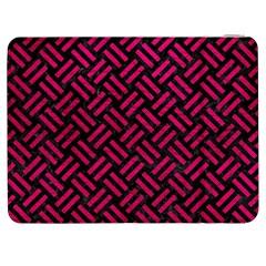 Woven2 Black Marble & Pink Leather (r) Samsung Galaxy Tab 7  P1000 Flip Case by trendistuff