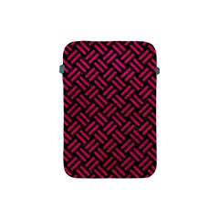 Woven2 Black Marble & Pink Leather (r) Apple Ipad Mini Protective Soft Cases by trendistuff