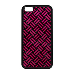 Woven2 Black Marble & Pink Leather (r) Apple Iphone 5c Seamless Case (black) by trendistuff