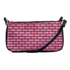 Brick1 Black Marble & Pink Watercolor Shoulder Clutch Bags by trendistuff