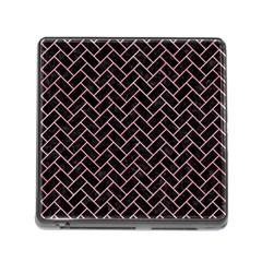 Brick2 Black Marble & Pink Watercolor (r) Memory Card Reader (square) by trendistuff