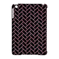 Brick2 Black Marble & Pink Watercolor (r) Apple Ipad Mini Hardshell Case (compatible With Smart Cover) by trendistuff
