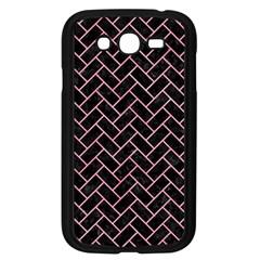 Brick2 Black Marble & Pink Watercolor (r) Samsung Galaxy Grand Duos I9082 Case (black) by trendistuff