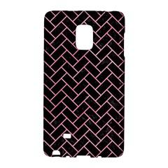 Brick2 Black Marble & Pink Watercolor (r) Galaxy Note Edge by trendistuff