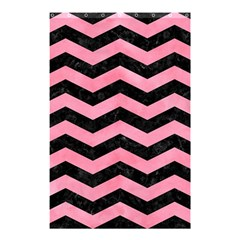 Chevron3 Black Marble & Pink Watercolor Shower Curtain 48  X 72  (small)  by trendistuff