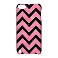 Chevron9 Black Marble & Pink Watercolor Apple Ipod Touch 5 Hardshell Case With Stand by trendistuff