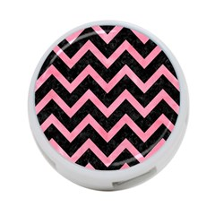 Chevron9 Black Marble & Pink Watercolor (r) 4 Port Usb Hub (one Side) by trendistuff