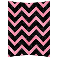 Chevron9 Black Marble & Pink Watercolor (r) Back Support Cushion by trendistuff