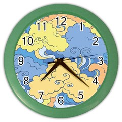 Abstract Nature 2 Color Wall Clocks by tarastyle
