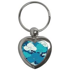 Abstract Nature 4 Key Chains (heart)  by tarastyle