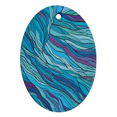 Abstract Nature 6 Oval Ornament (two Sides) by tarastyle