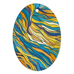 Abstract Nature 7 Oval Ornament (two Sides) by tarastyle
