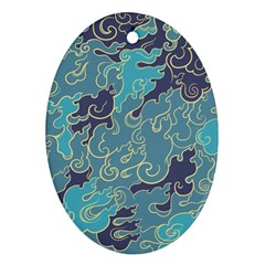 Abstract Nature 10 Oval Ornament (two Sides) by tarastyle