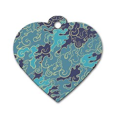 Abstract Nature 10 Dog Tag Heart (two Sides) by tarastyle