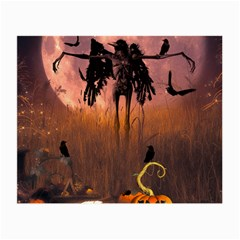 Halloween Design With Scarecrow, Crow And Pumpkin Small Glasses Cloth by FantasyWorld7