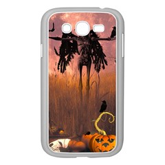 Halloween Design With Scarecrow, Crow And Pumpkin Samsung Galaxy Grand Duos I9082 Case (white) by FantasyWorld7