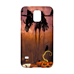 Halloween Design With Scarecrow, Crow And Pumpkin Samsung Galaxy S5 Hardshell Case  by FantasyWorld7