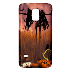 Halloween Design With Scarecrow, Crow And Pumpkin Galaxy S5 Mini by FantasyWorld7