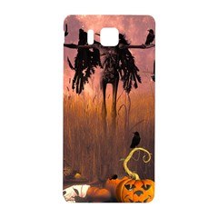 Halloween Design With Scarecrow, Crow And Pumpkin Samsung Galaxy Alpha Hardshell Back Case by FantasyWorld7