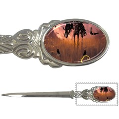 Halloween Design With Scarecrow, Crow And Pumpkin Letter Openers by FantasyWorld7