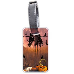 Halloween Design With Scarecrow, Crow And Pumpkin Luggage Tags (one Side)  by FantasyWorld7