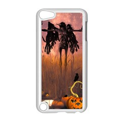 Halloween Design With Scarecrow, Crow And Pumpkin Apple Ipod Touch 5 Case (white) by FantasyWorld7