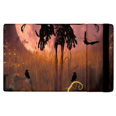 Halloween Design With Scarecrow, Crow And Pumpkin Apple Ipad Pro 12 9   Flip Case by FantasyWorld7