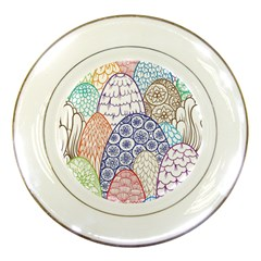 Abstract Nature 12 Porcelain Plates by tarastyle