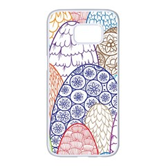 Abstract Nature 12 Samsung Galaxy S7 Edge White Seamless Case by tarastyle