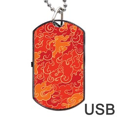 Abstract Nature 18 Dog Tag Usb Flash (one Side) by tarastyle