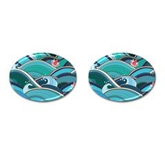 Abstract Nature 19 Cufflinks (oval) by tarastyle