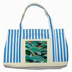 Abstract Nature 19 Striped Blue Tote Bag by tarastyle