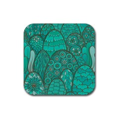 Abstract Nature 21 Rubber Square Coaster (4 Pack)  by tarastyle