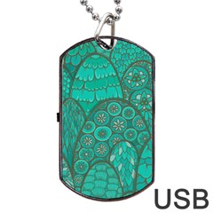 Abstract Nature 21 Dog Tag Usb Flash (two Sides) by tarastyle
