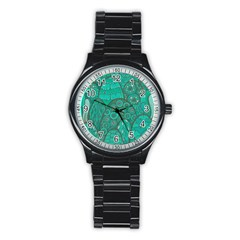 Abstract Nature 21 Stainless Steel Round Watch by tarastyle