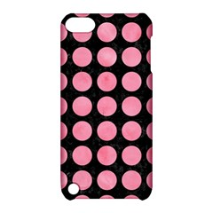 Circles1 Black Marble & Pink Watercolor (r) Apple Ipod Touch 5 Hardshell Case With Stand by trendistuff