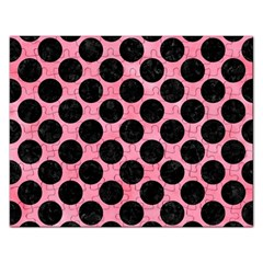 Circles2 Black Marble & Pink Watercolor Rectangular Jigsaw Puzzl by trendistuff
