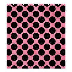 Circles2 Black Marble & Pink Watercolor Shower Curtain 66  X 72  (large)  by trendistuff