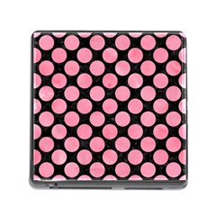 Circles2 Black Marble & Pink Watercolor (r) Memory Card Reader (square) by trendistuff