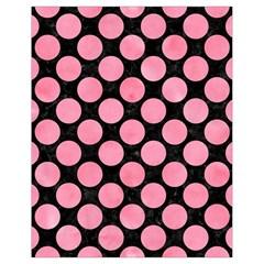 Circles2 Black Marble & Pink Watercolor (r) Drawstring Bag (small)