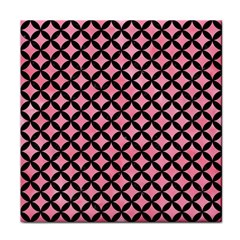 Circles3 Black Marble & Pink Watercolor Face Towel by trendistuff