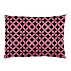 Circles3 Black Marble & Pink Watercolor (r) Pillow Case (two Sides) by trendistuff