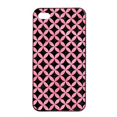 Circles3 Black Marble & Pink Watercolor (r) Apple Iphone 4/4s Seamless Case (black) by trendistuff