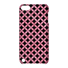 Circles3 Black Marble & Pink Watercolor (r) Apple Ipod Touch 5 Hardshell Case With Stand by trendistuff