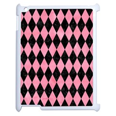 Diamond1 Black Marble & Pink Watercolor Apple Ipad 2 Case (white) by trendistuff