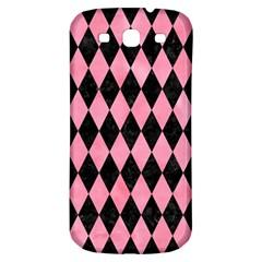 Diamond1 Black Marble & Pink Watercolor Samsung Galaxy S3 S Iii Classic Hardshell Back Case by trendistuff