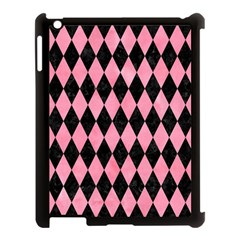 Diamond1 Black Marble & Pink Watercolor Apple Ipad 3/4 Case (black) by trendistuff